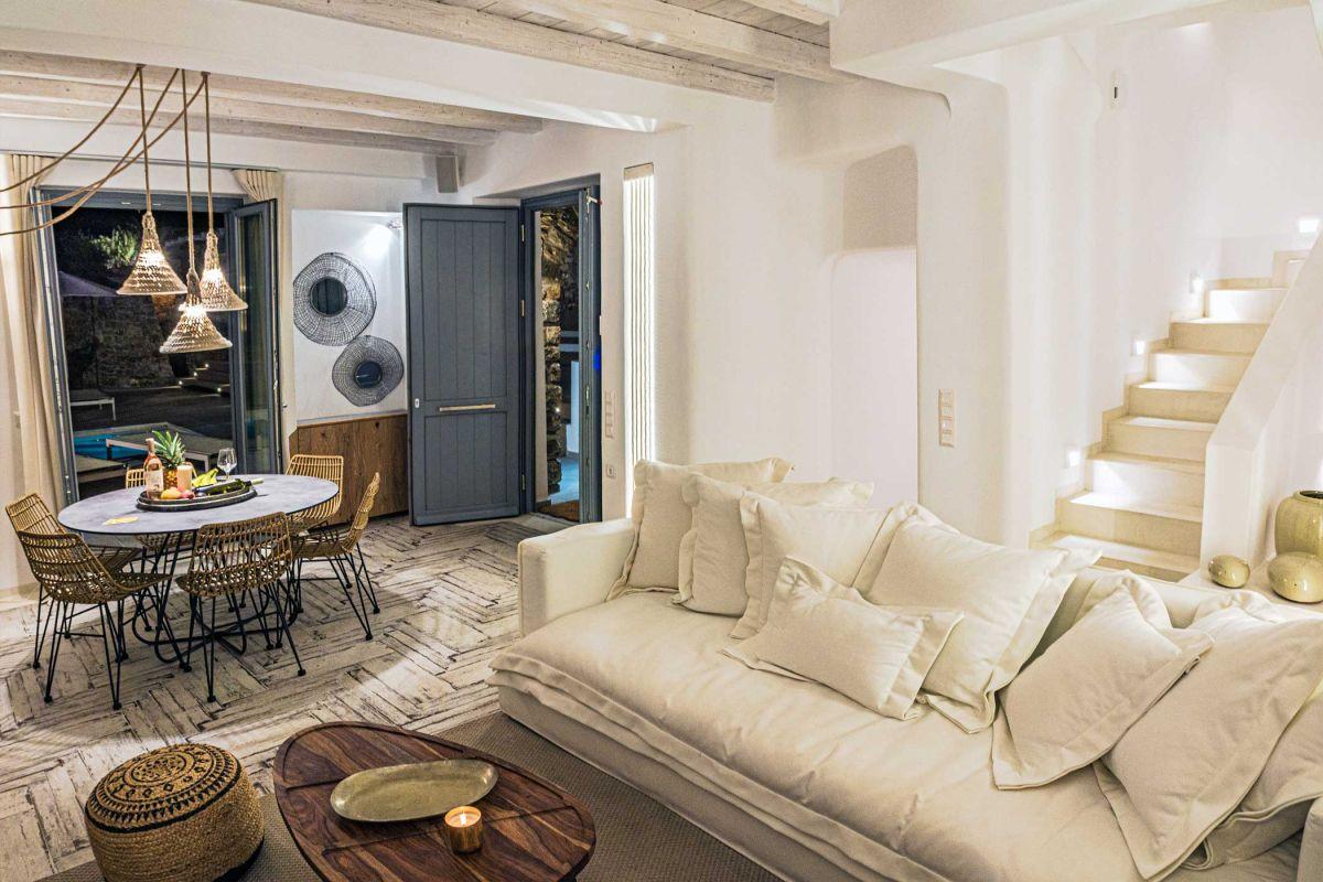 villa kinthos kalafatis lounge