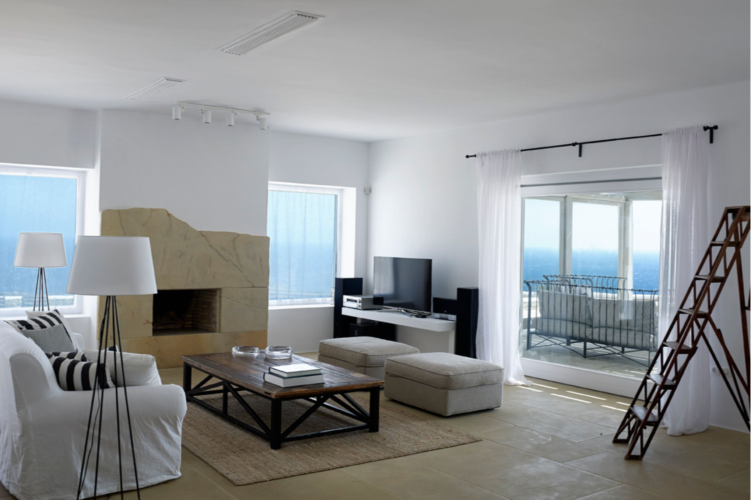 mykonos villas interiors