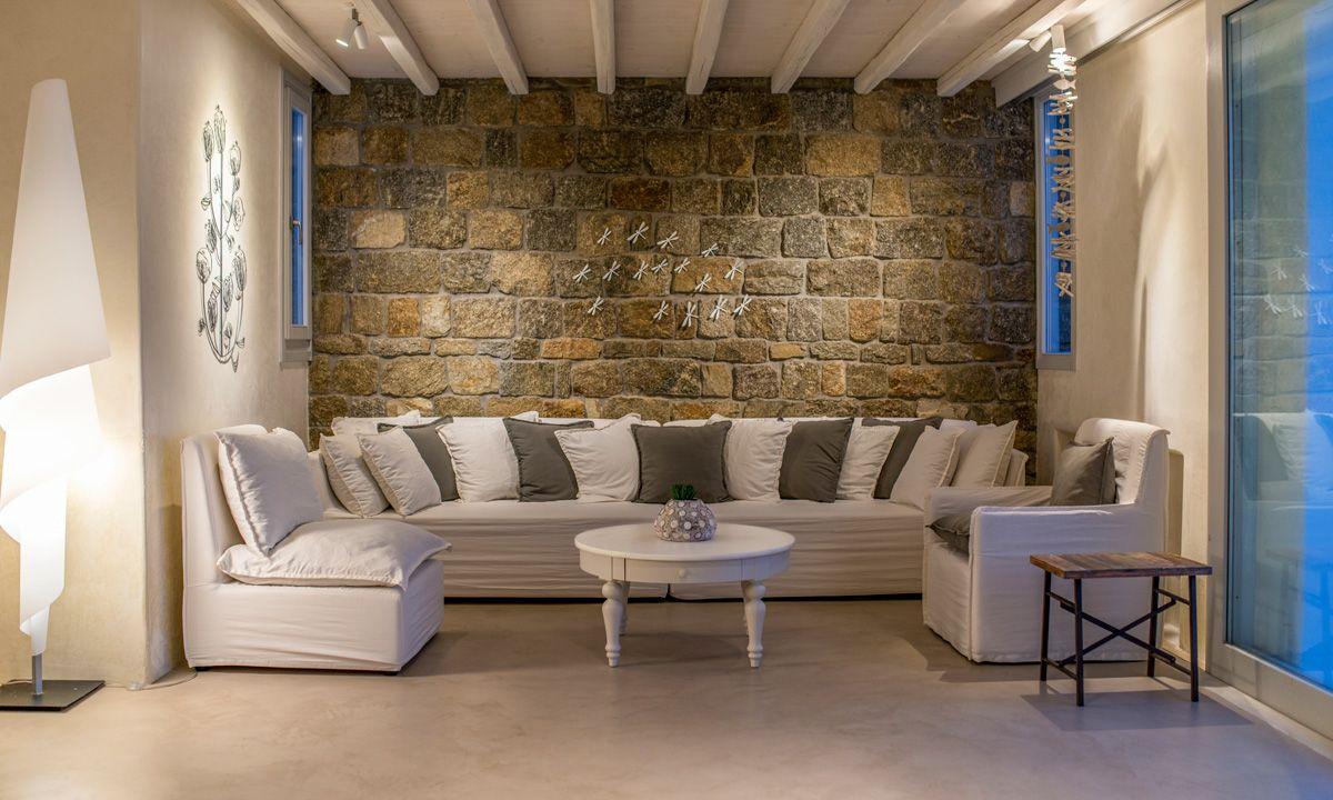 interior villa fanari sunset mykonos