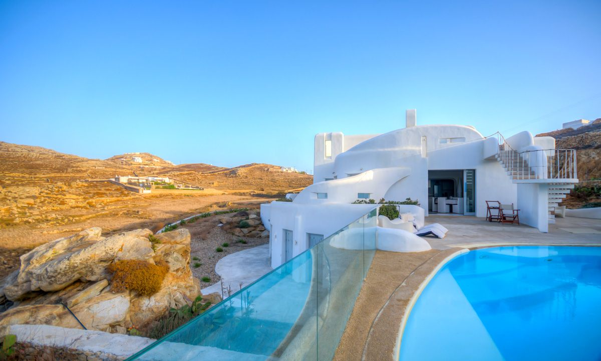 villa fanari sunset mykonos views