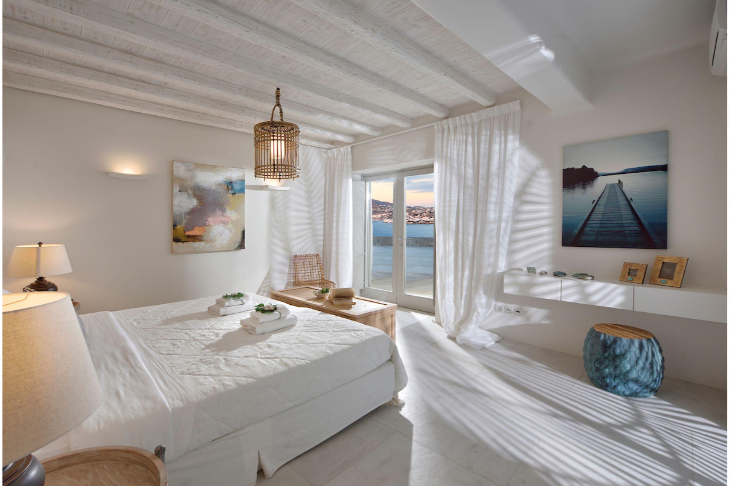 bedroom mykonos villas