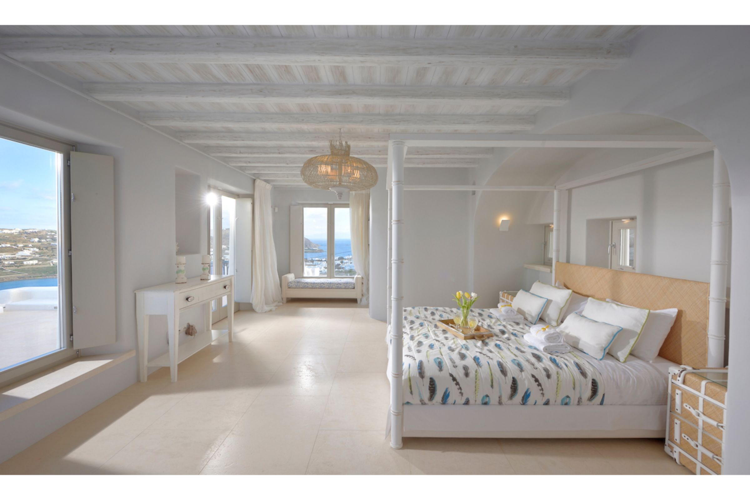 bedrooms mykonos villas