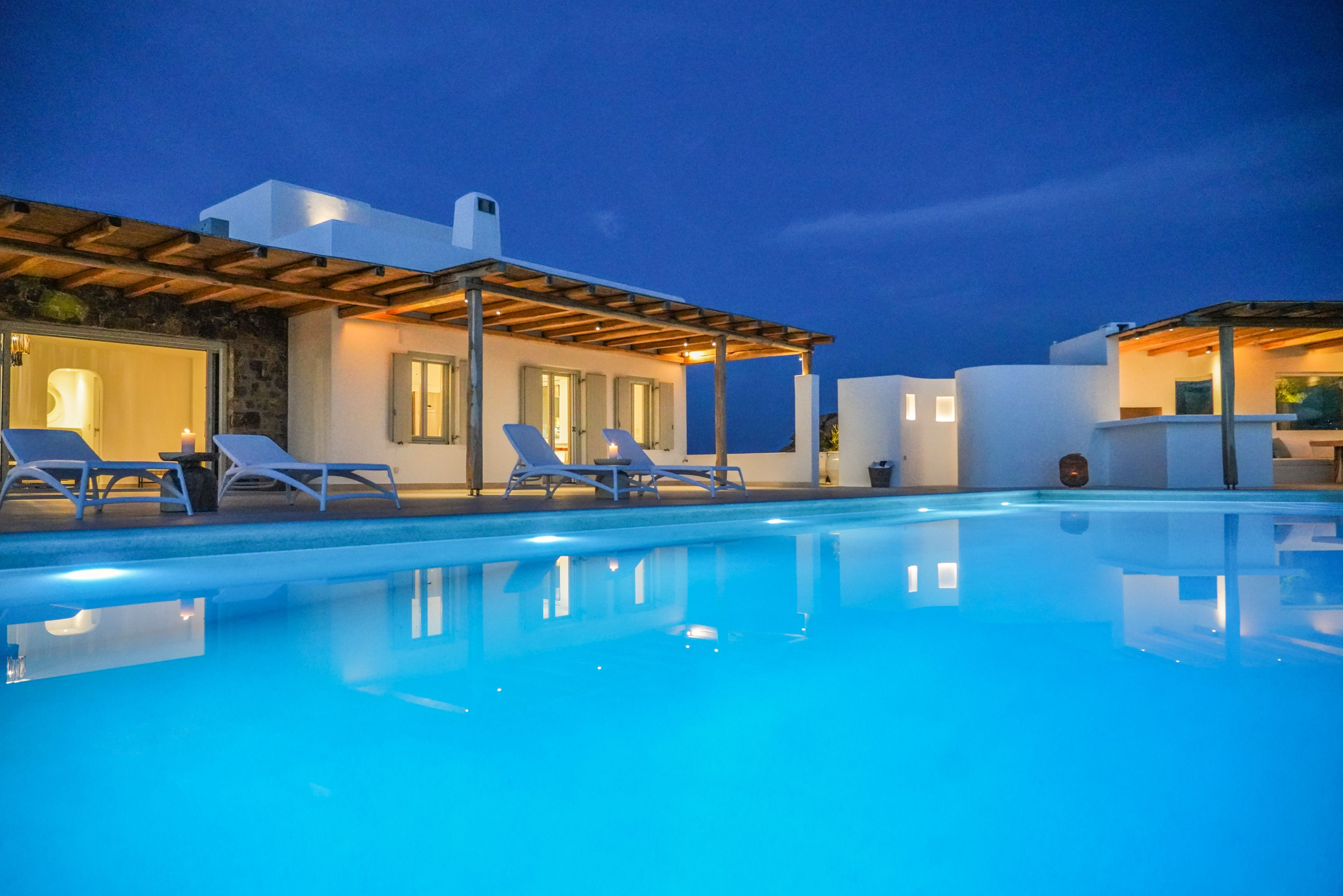 pool terrace mykonos villas