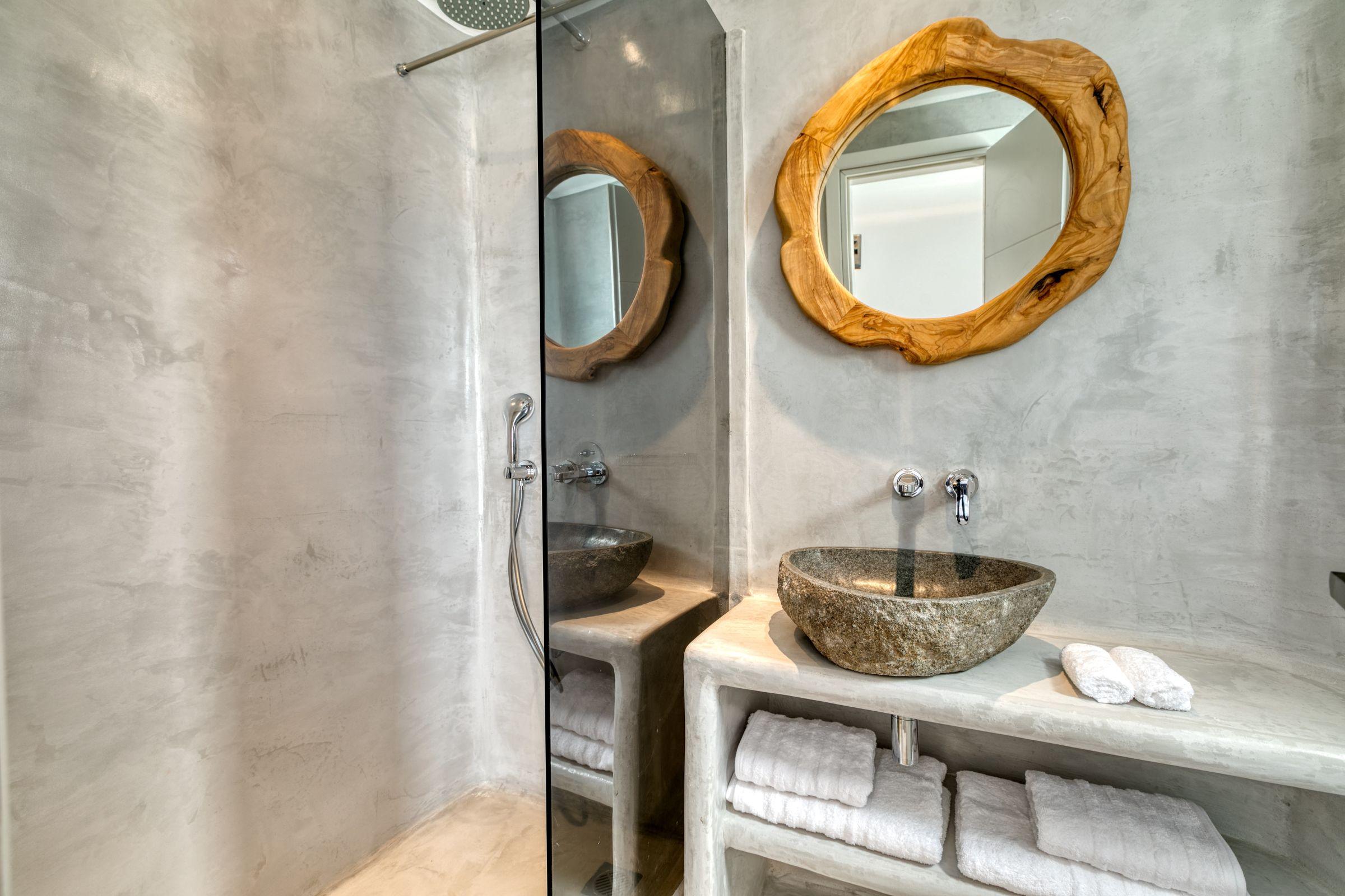 ftelia villas mykonos shower