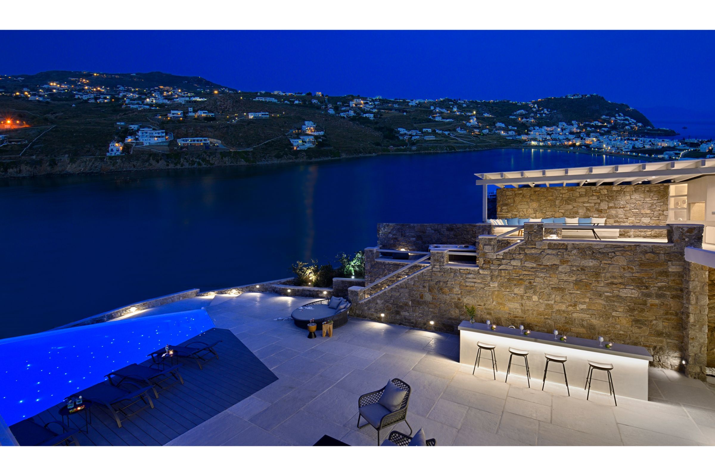 villa meli kanalia pool terrace