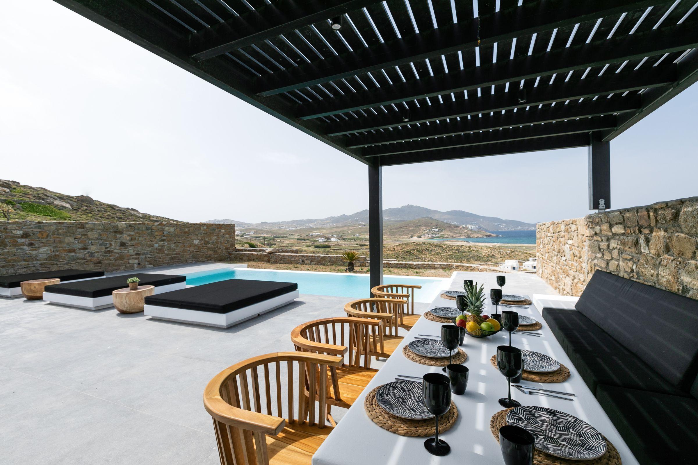 ftelia villas mykonos views