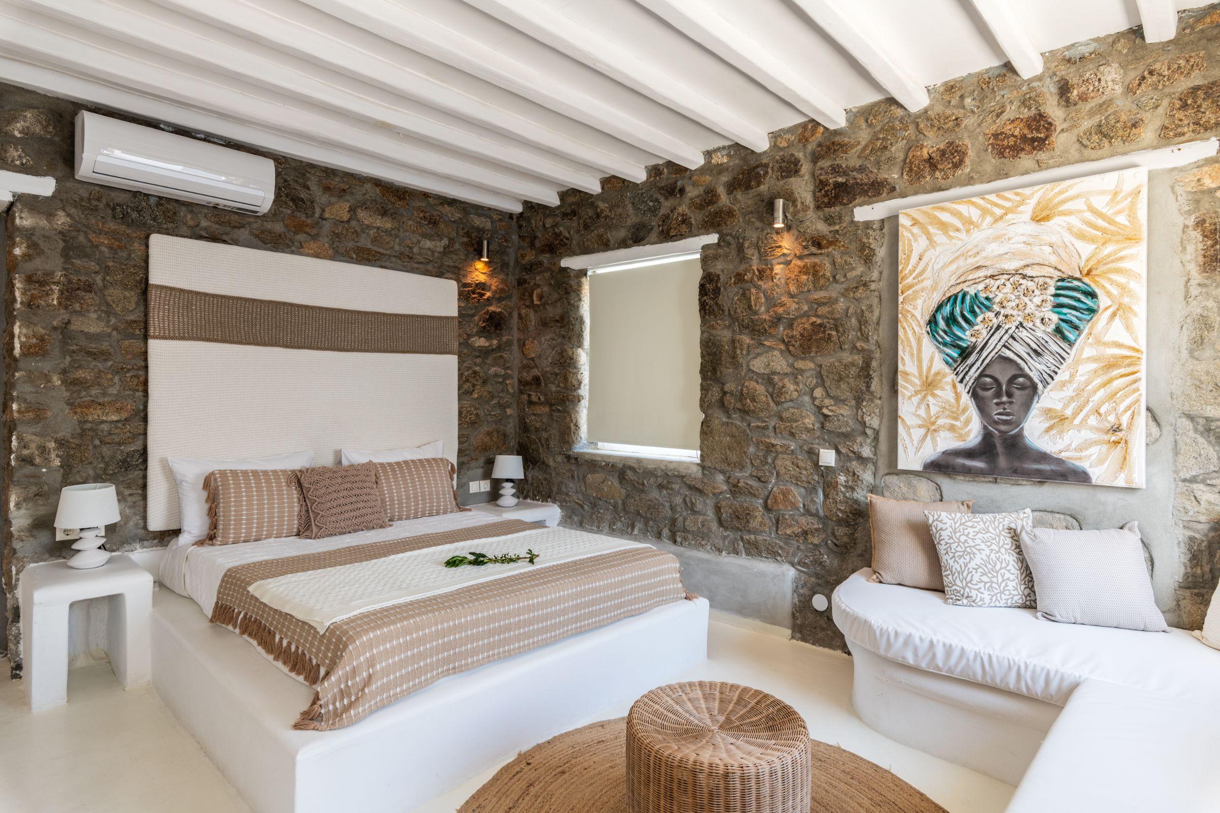 Villa Leimon Aleomandra mykonos bedroom