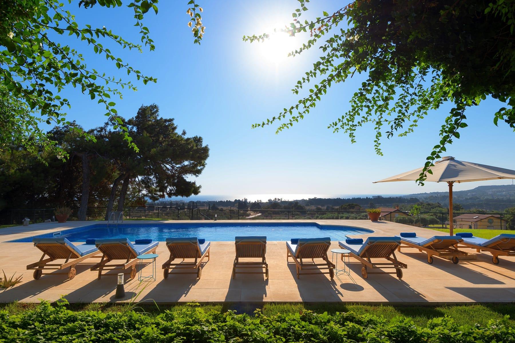 rhodes villas private pools greece