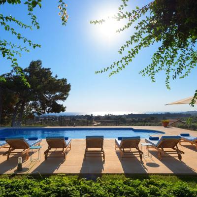 rhodes villas private pools views
