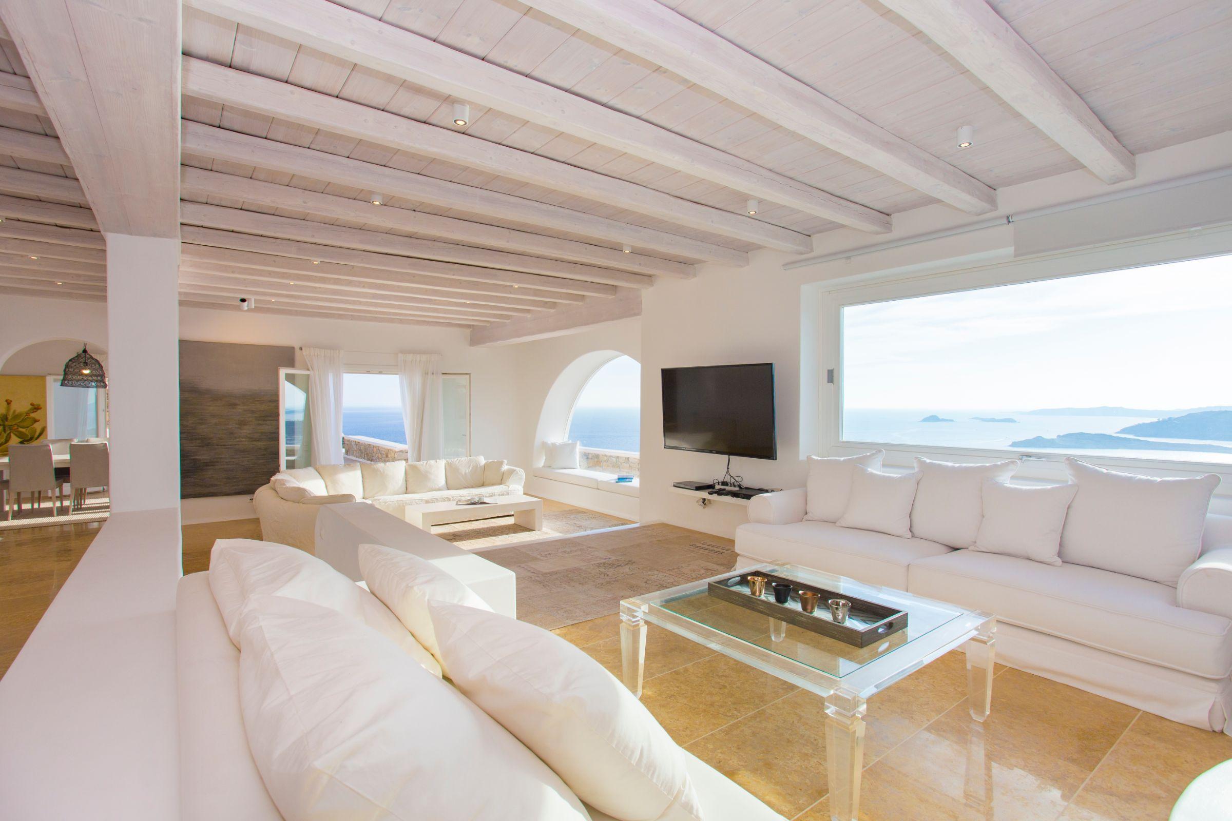 interior luxury mykonos villas