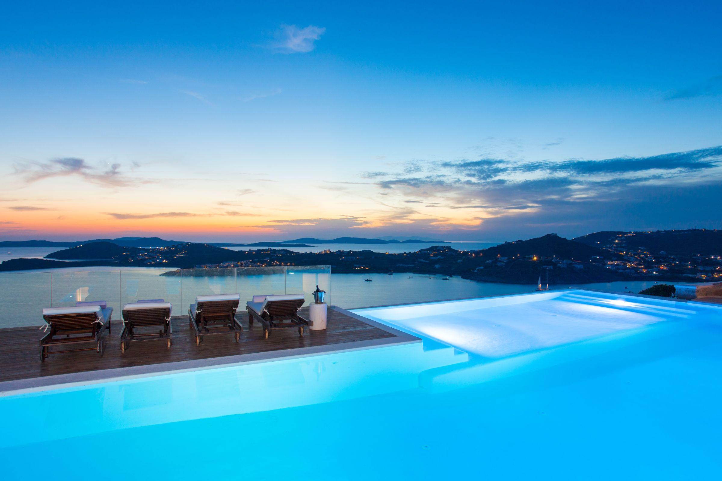 sunset views mykonos villas