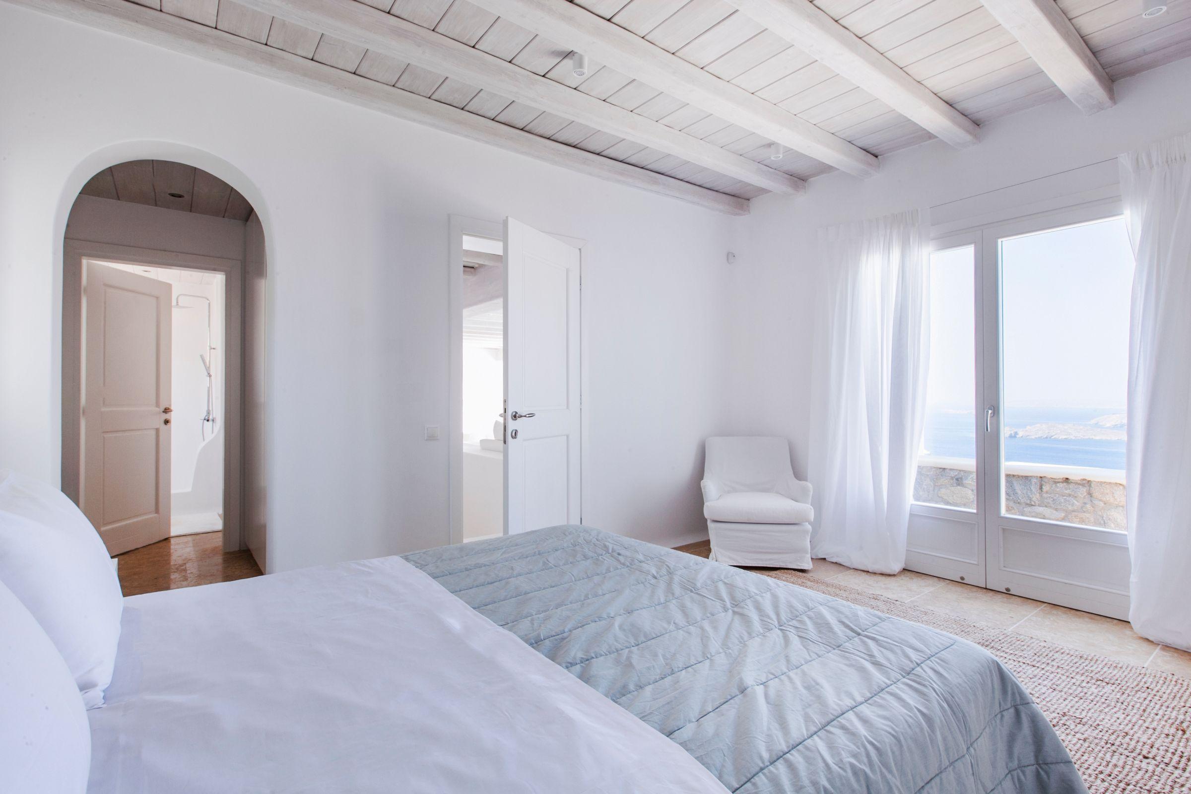 luxury mykonos villas bedrooms