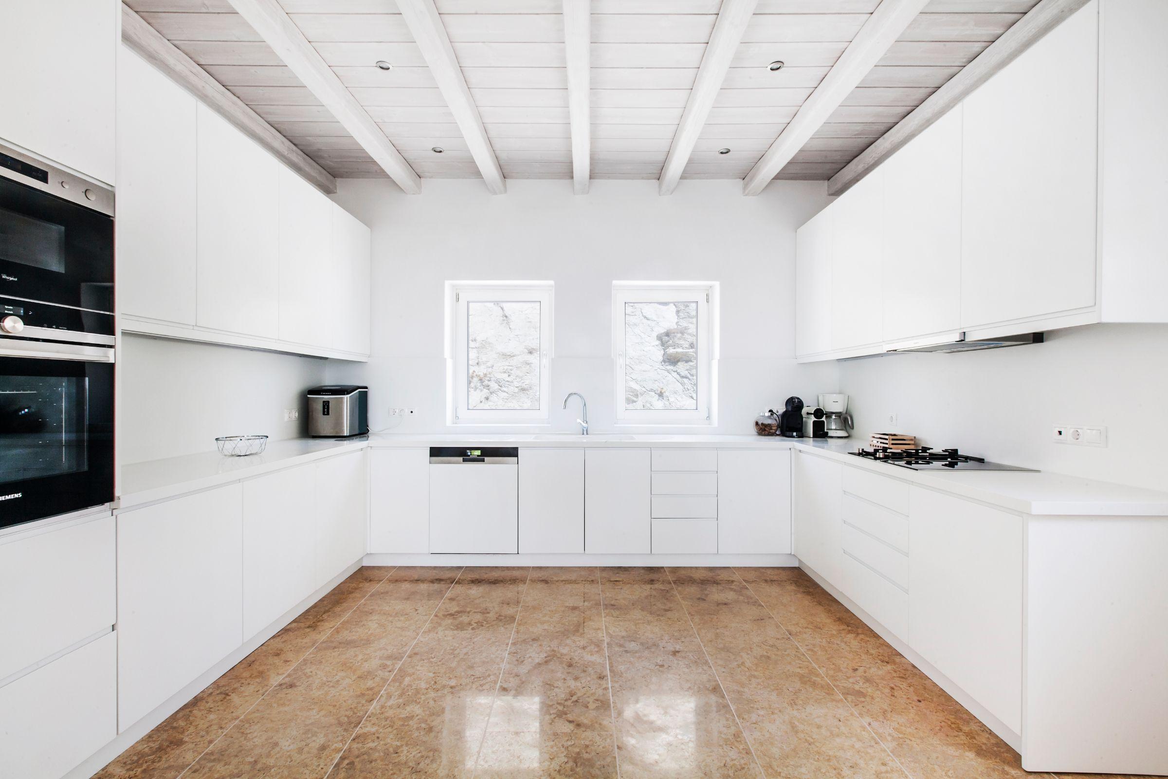 luxury mykonos villas kitchens
