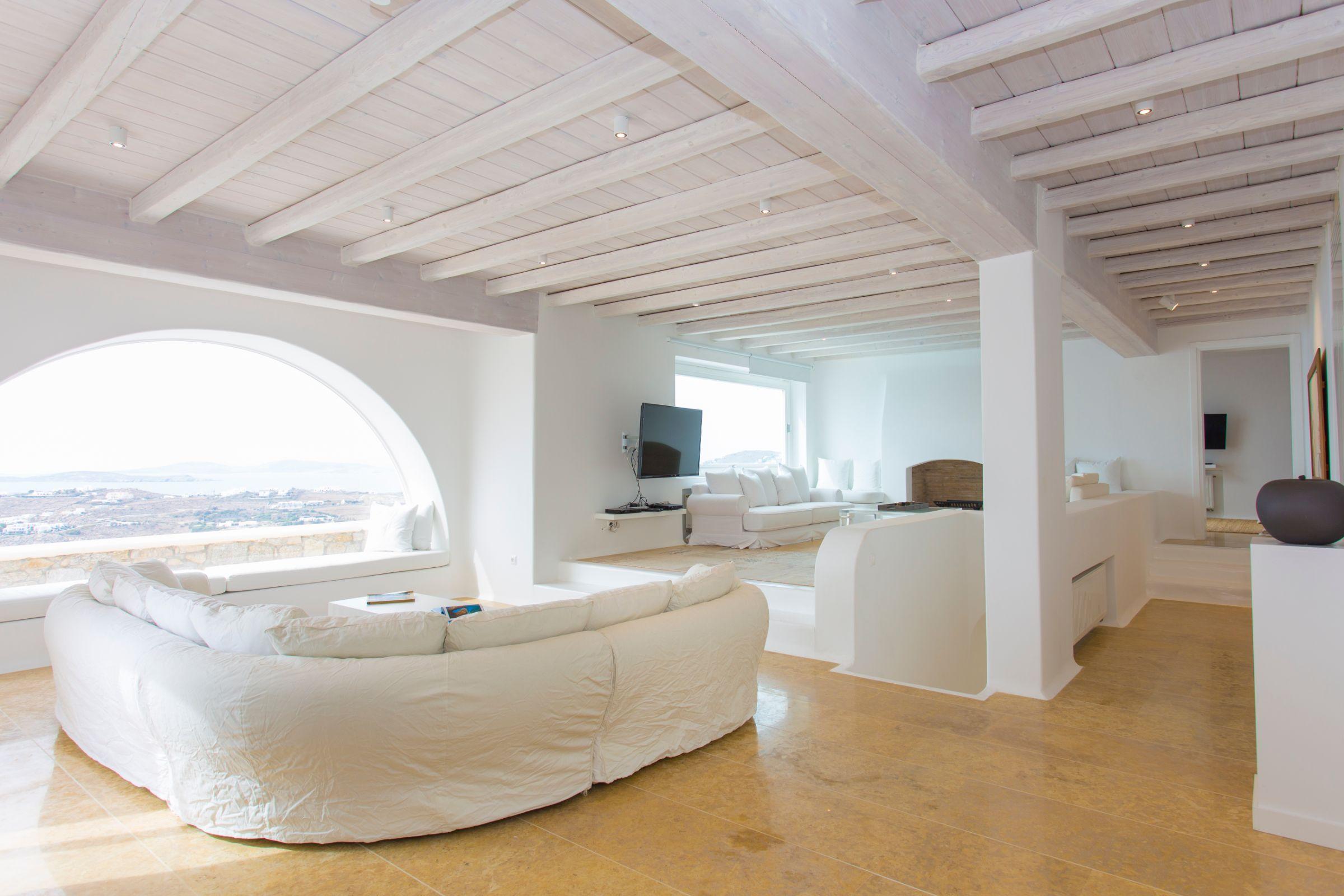 luxury mykonos villas lounge