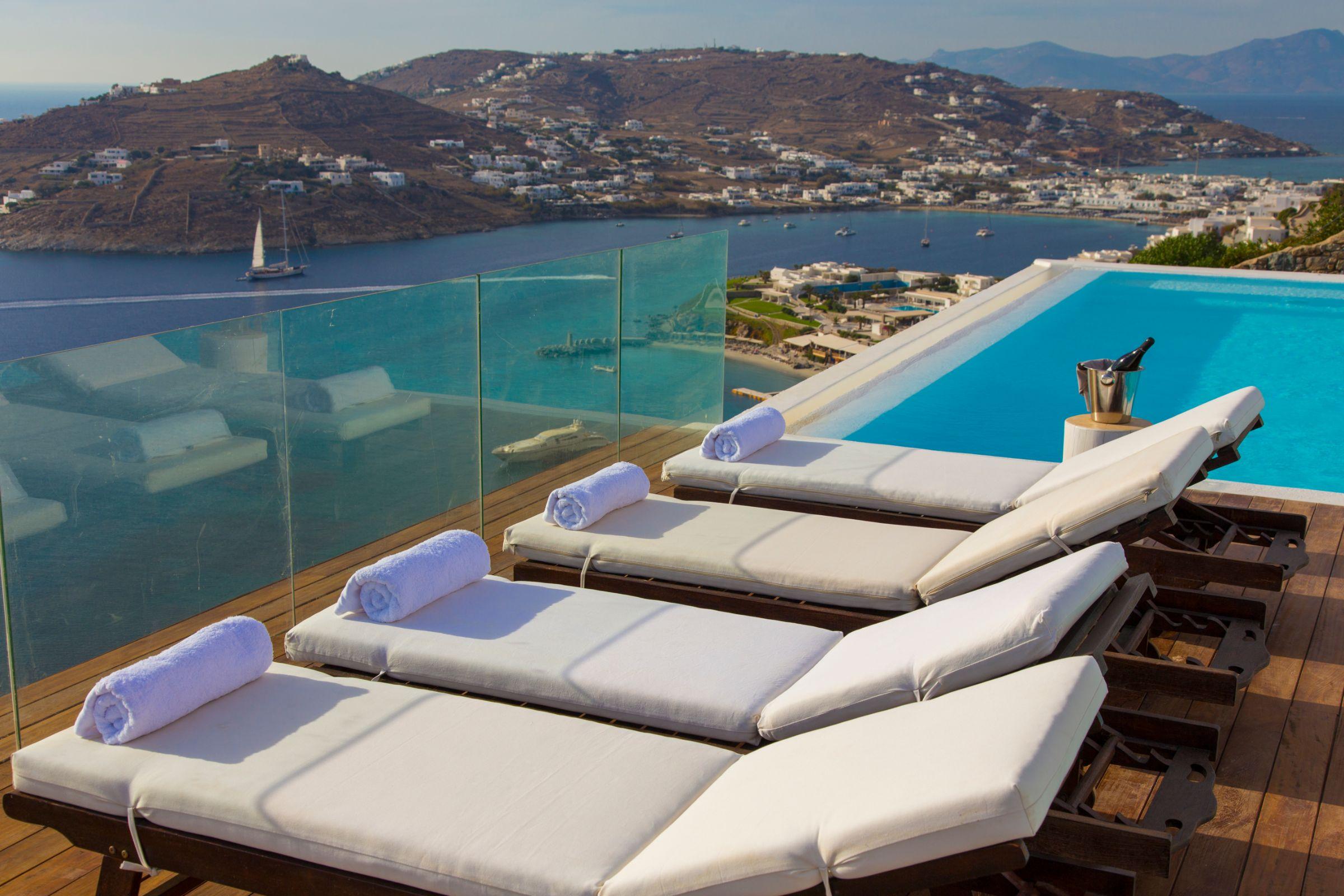 luxury mykonos villas pool