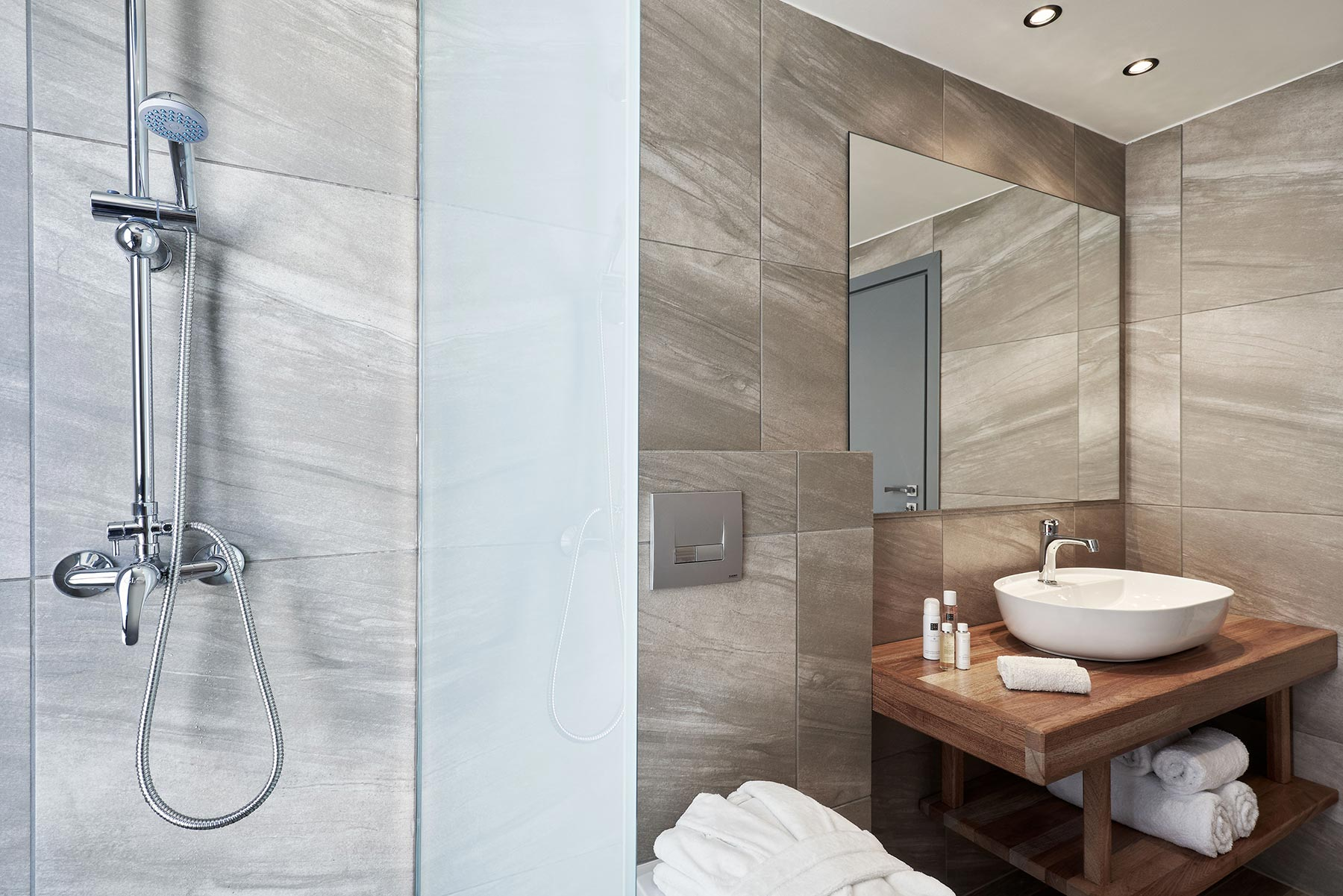 kallithea luxury villas bathrooms