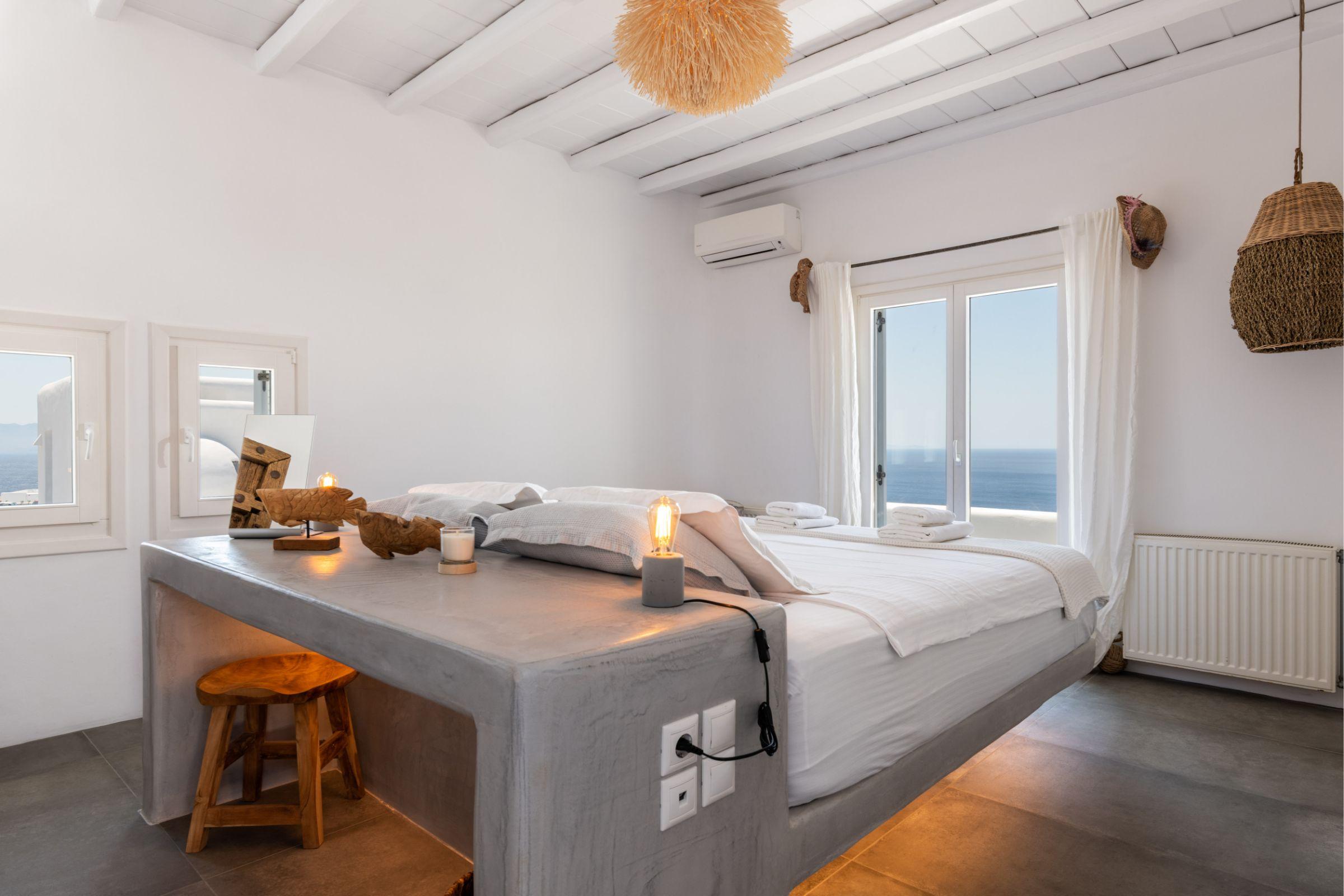 bedrooms luxury mykonos villas