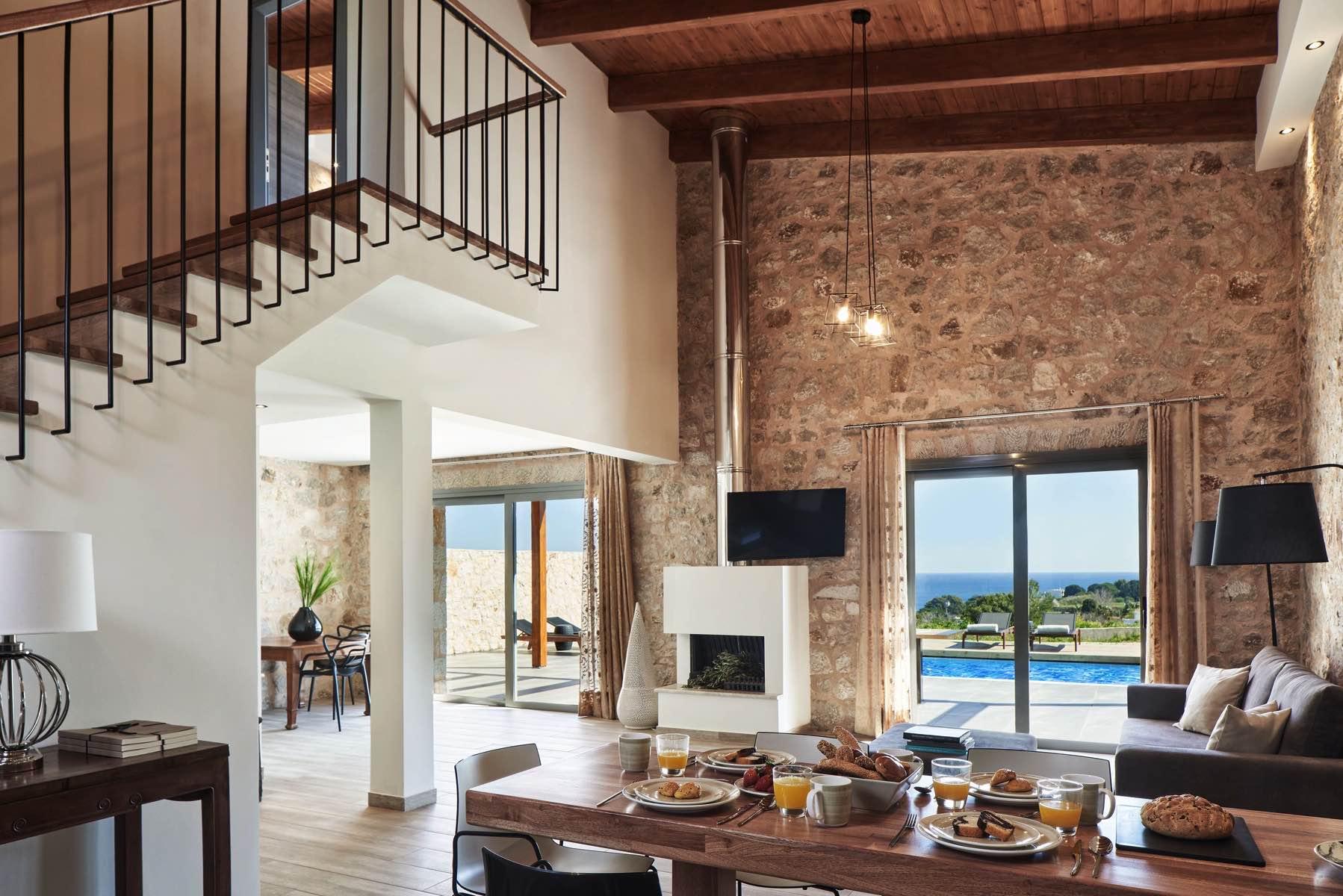 kallithea luxury villas interiors