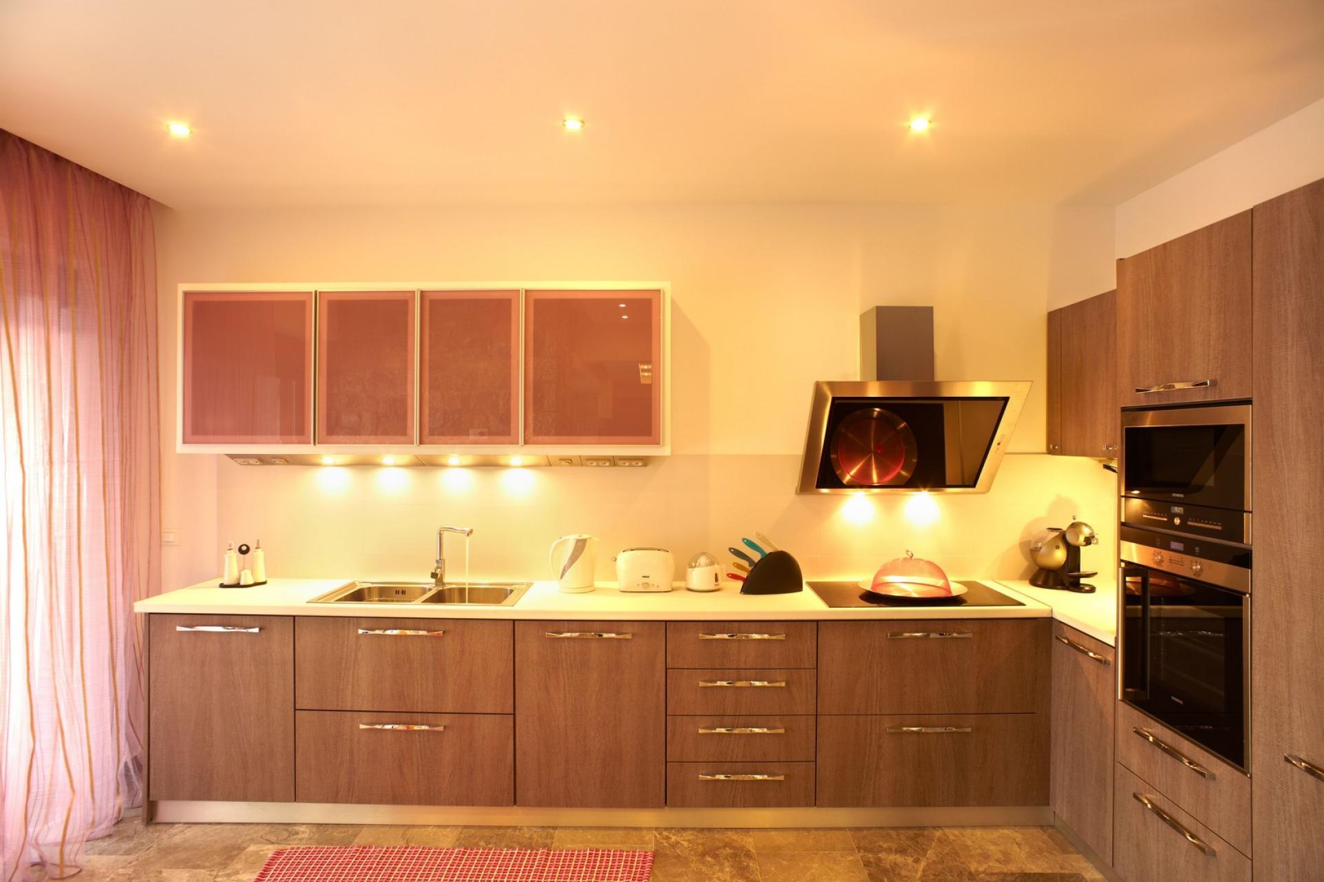 pefkos villas rhodes kitchen