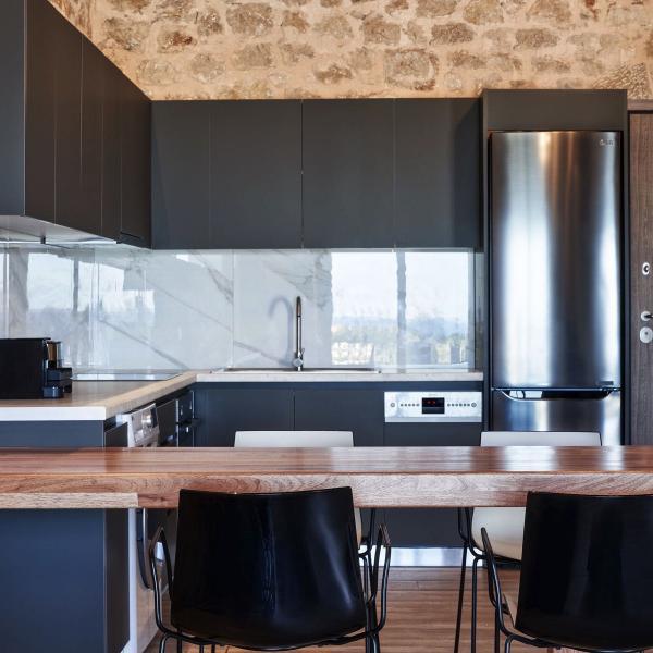 kallithea luxury villas kitchens