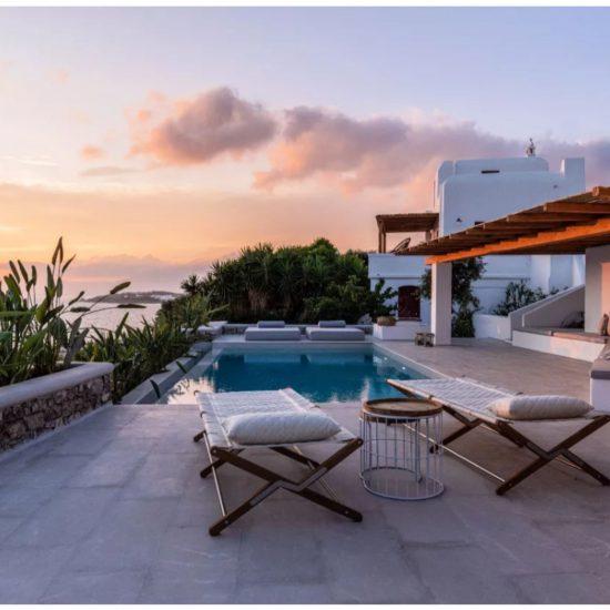 mykonos town villas private pools