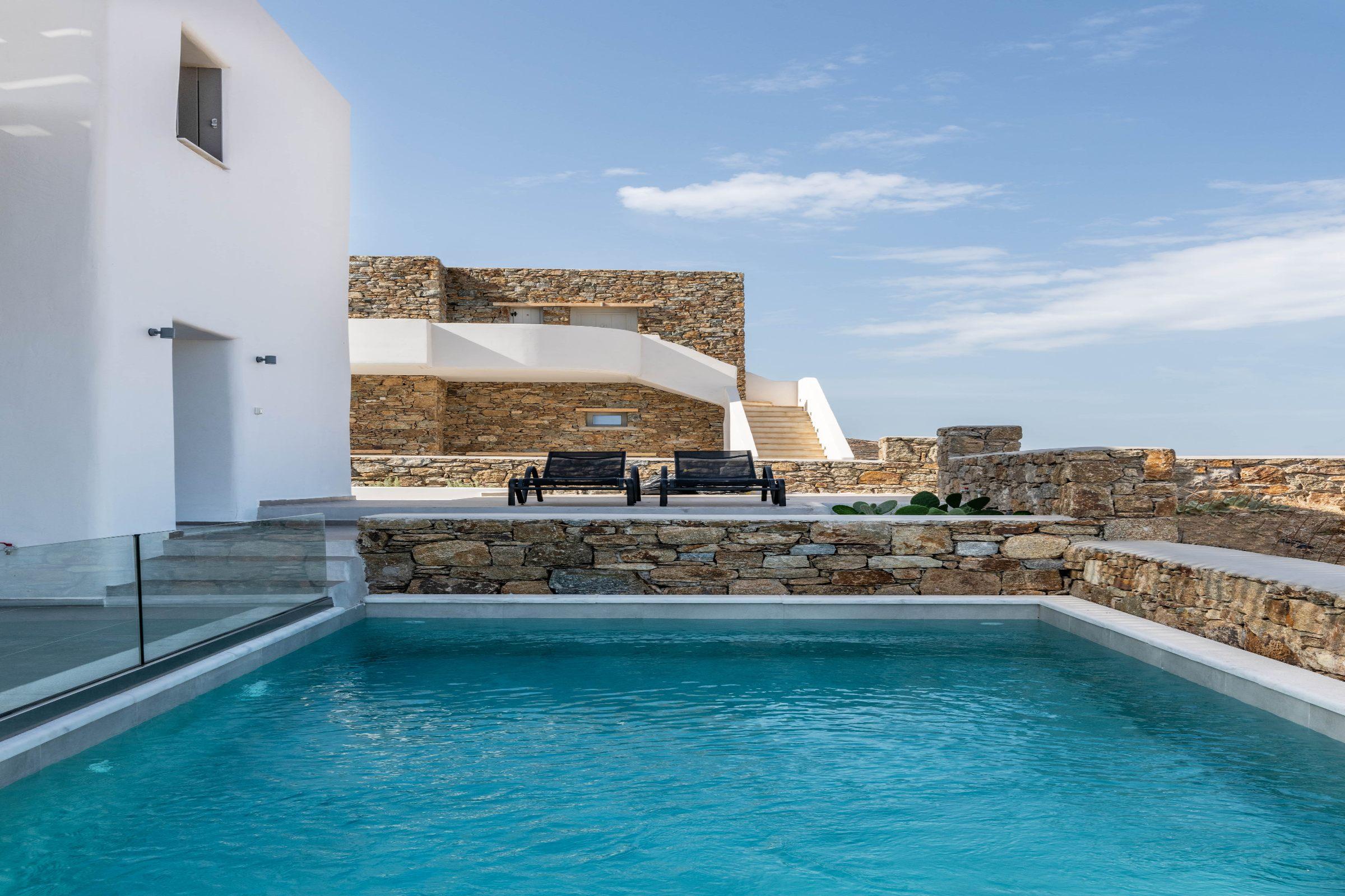 mykonos villas pools