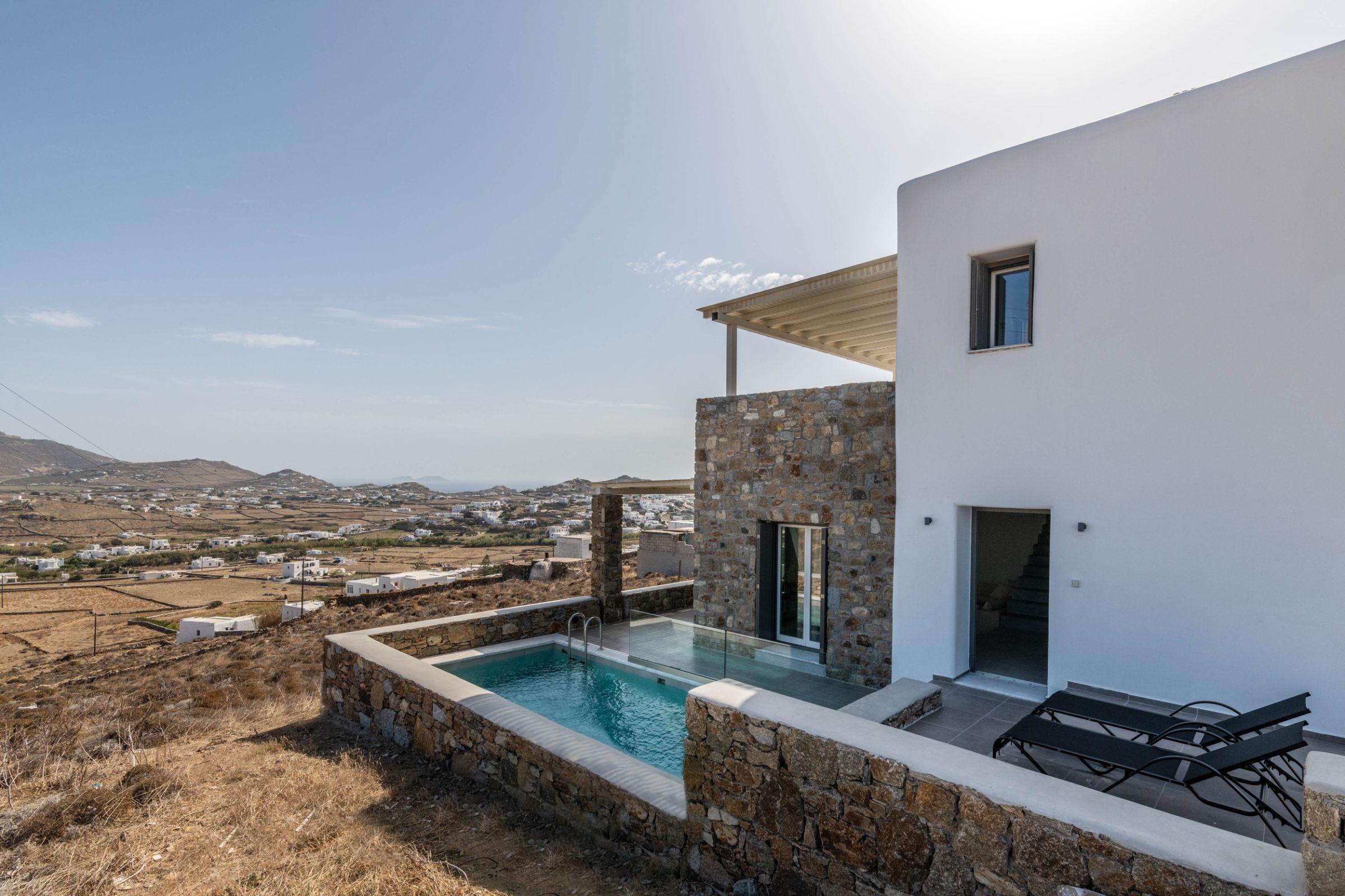 villas mykonos greece