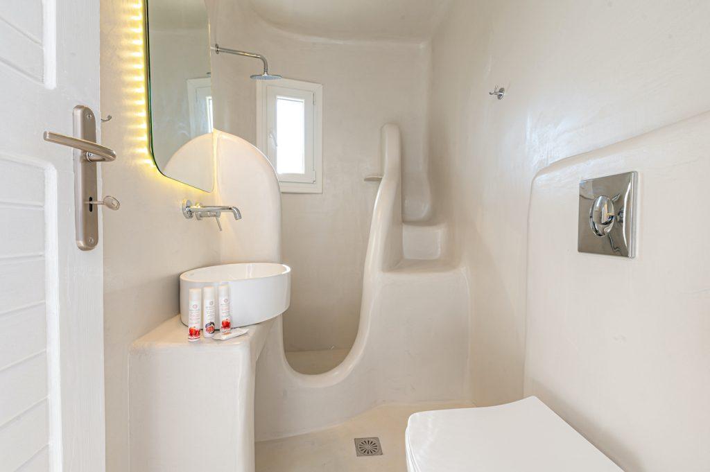 ornos villas mykonos shower room